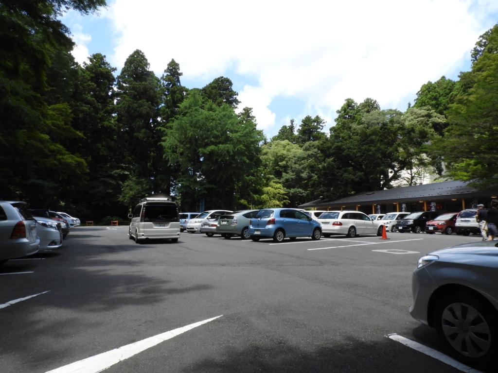 箱根神社の第一駐車場