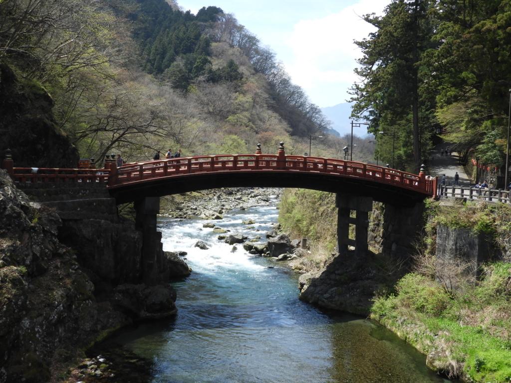 大谷川を渡る重要文化財の神橋