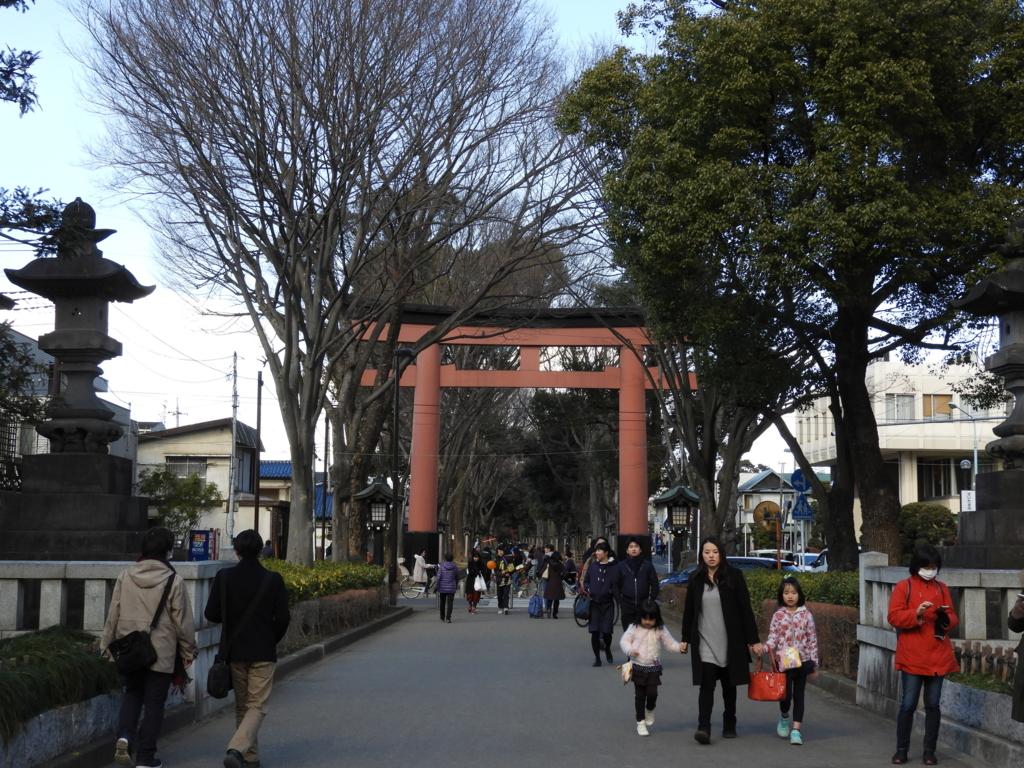 武蔵一宮氷川神社の二の鳥居