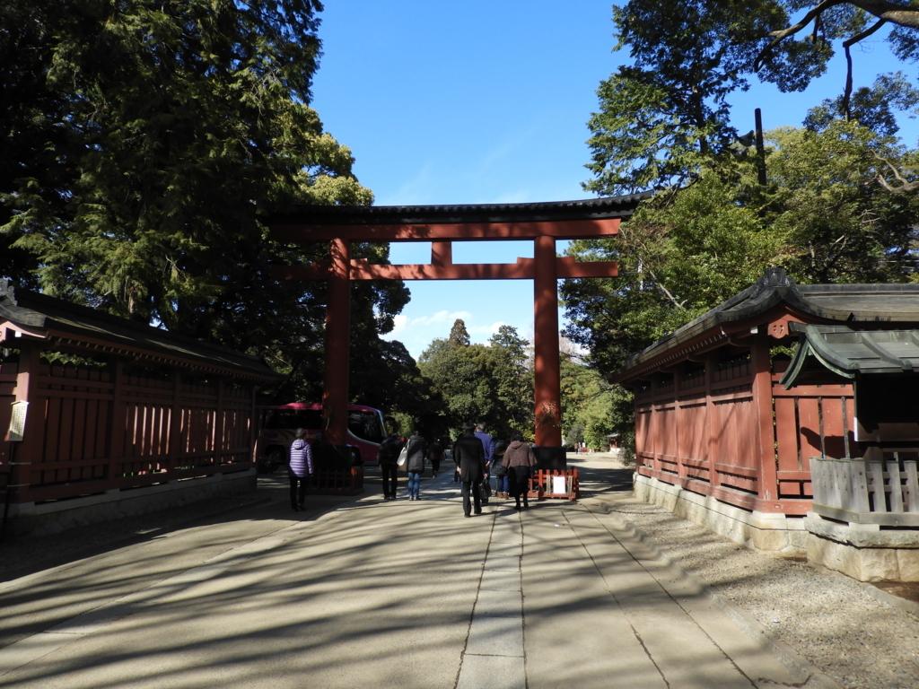 武蔵一宮氷川神社の三の鳥居