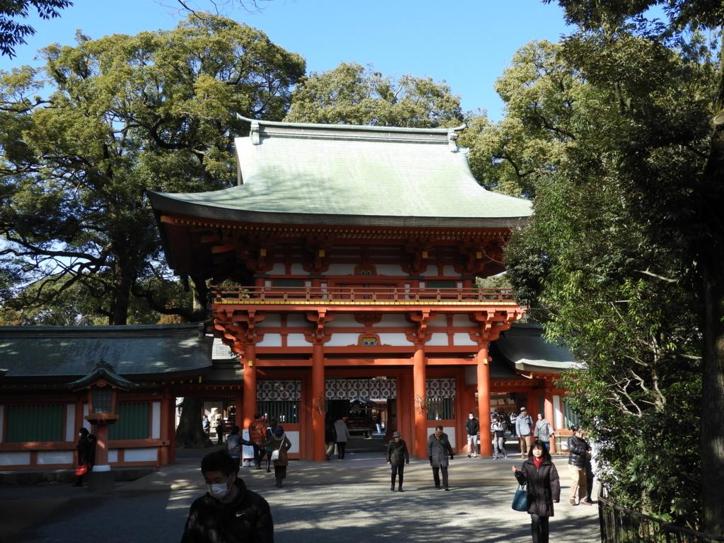 武蔵一宮氷川神社の楼門