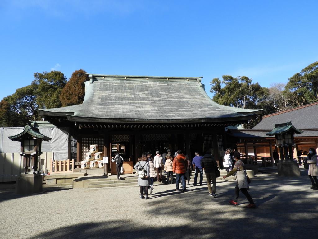 武蔵一宮氷川神社の拝殿