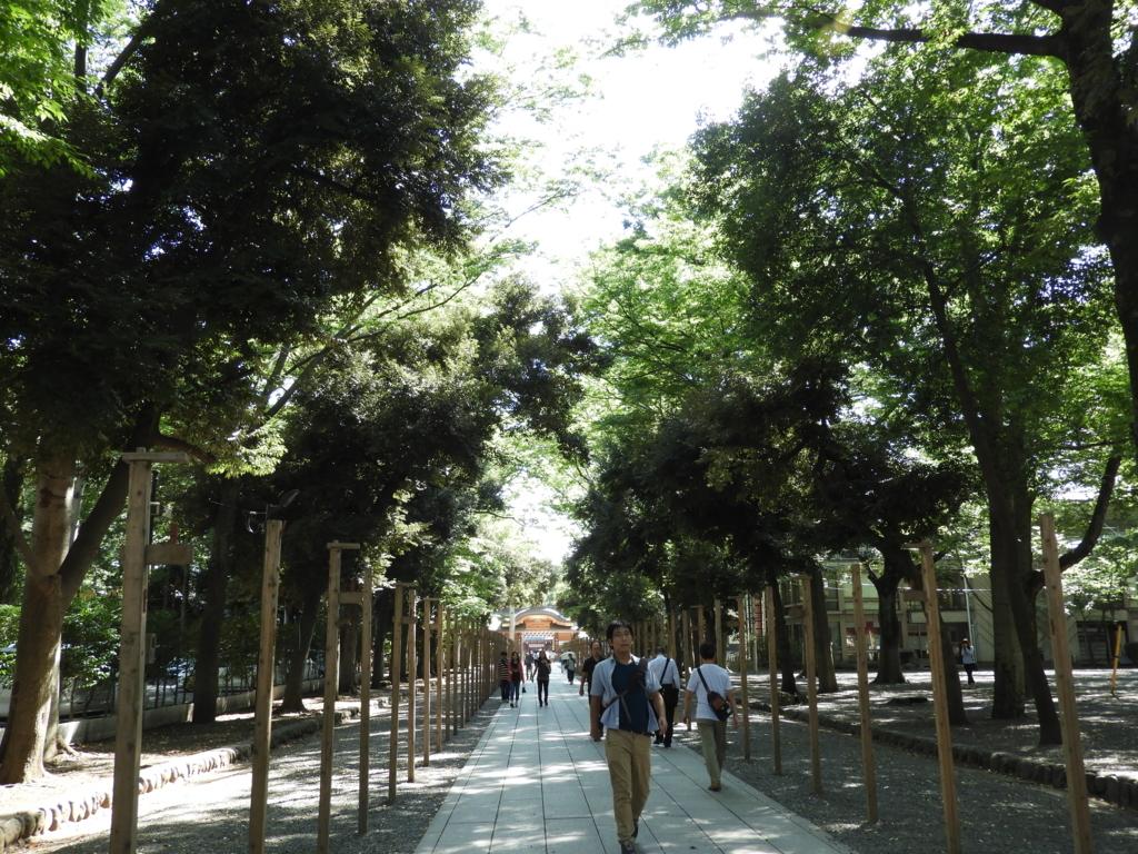 秋季祭の準備が進められていた大國魂神社の参道