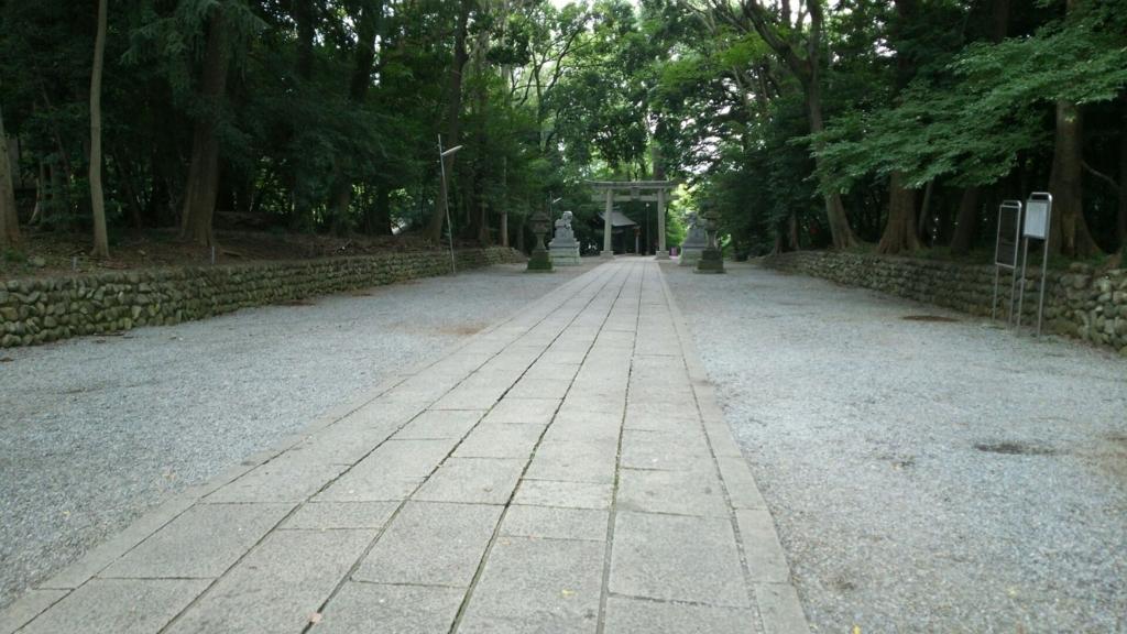 谷保天満宮参道の石畳