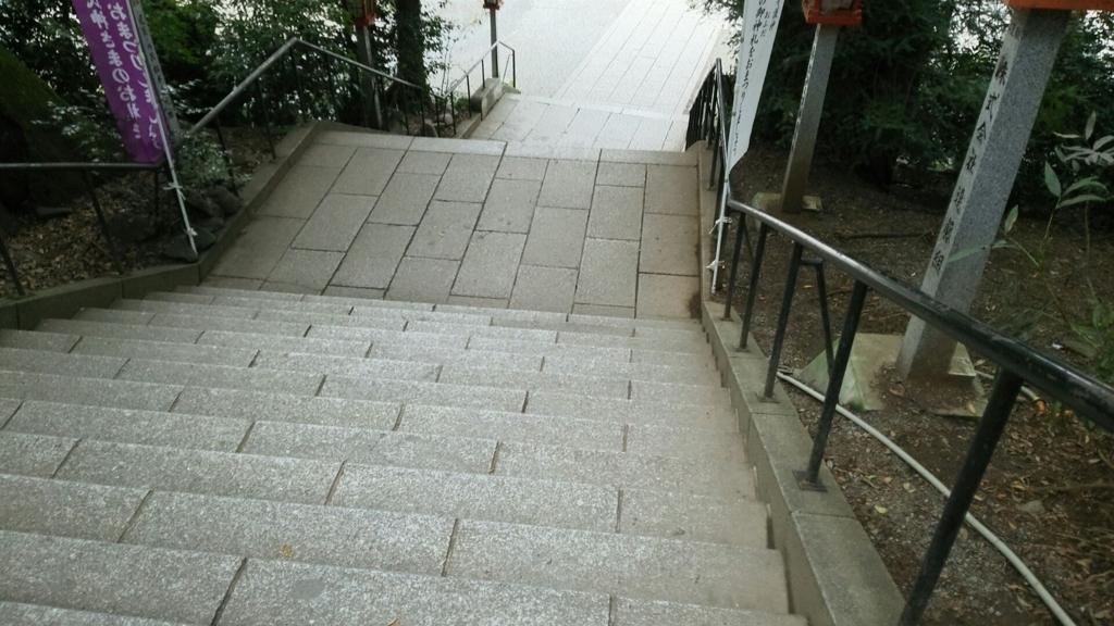 谷保天満宮の下り階段