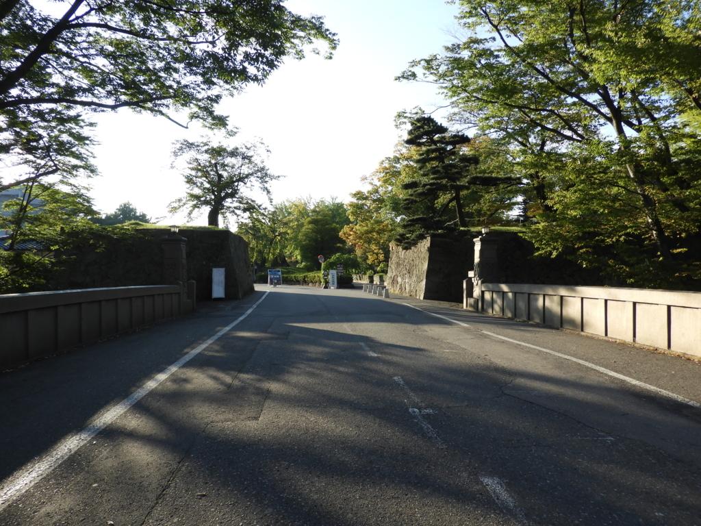 上田城址の二の丸橋
