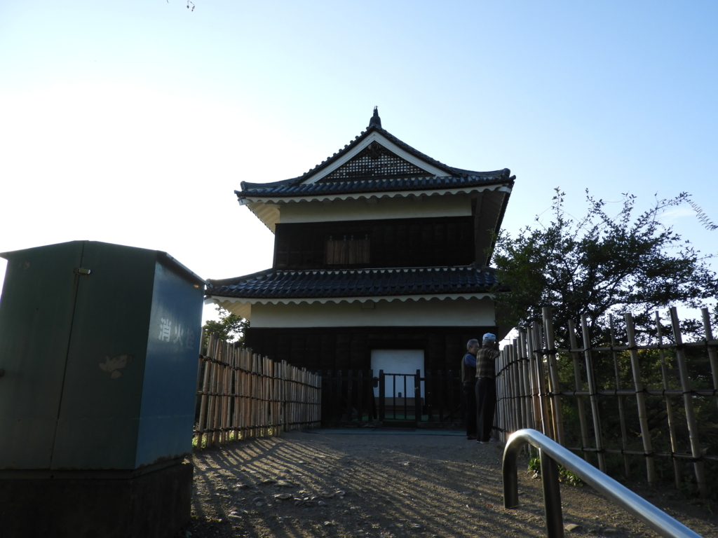 神社の奥にある眞田神社の西櫓