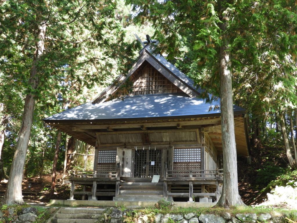正面の小窓から賽銭を入れる戸隠神社火之御子社の社殿