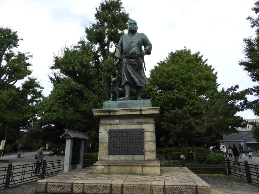 清水観音堂の近くにある西郷隆盛の銅像