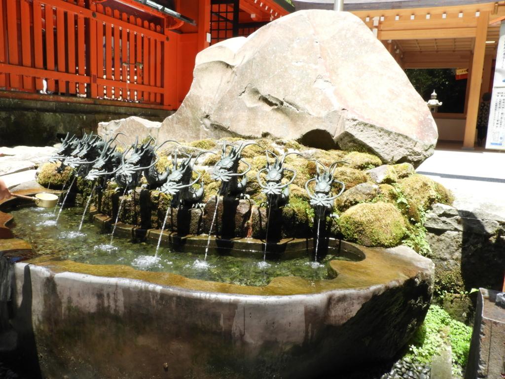 九頭竜神社新宮の龍神水