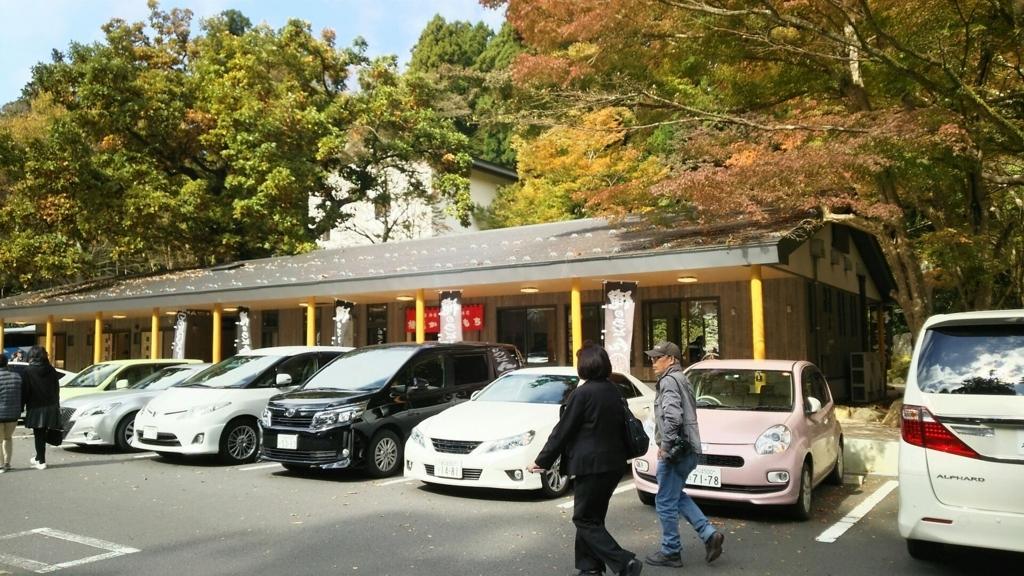 箱根神社の駐車場