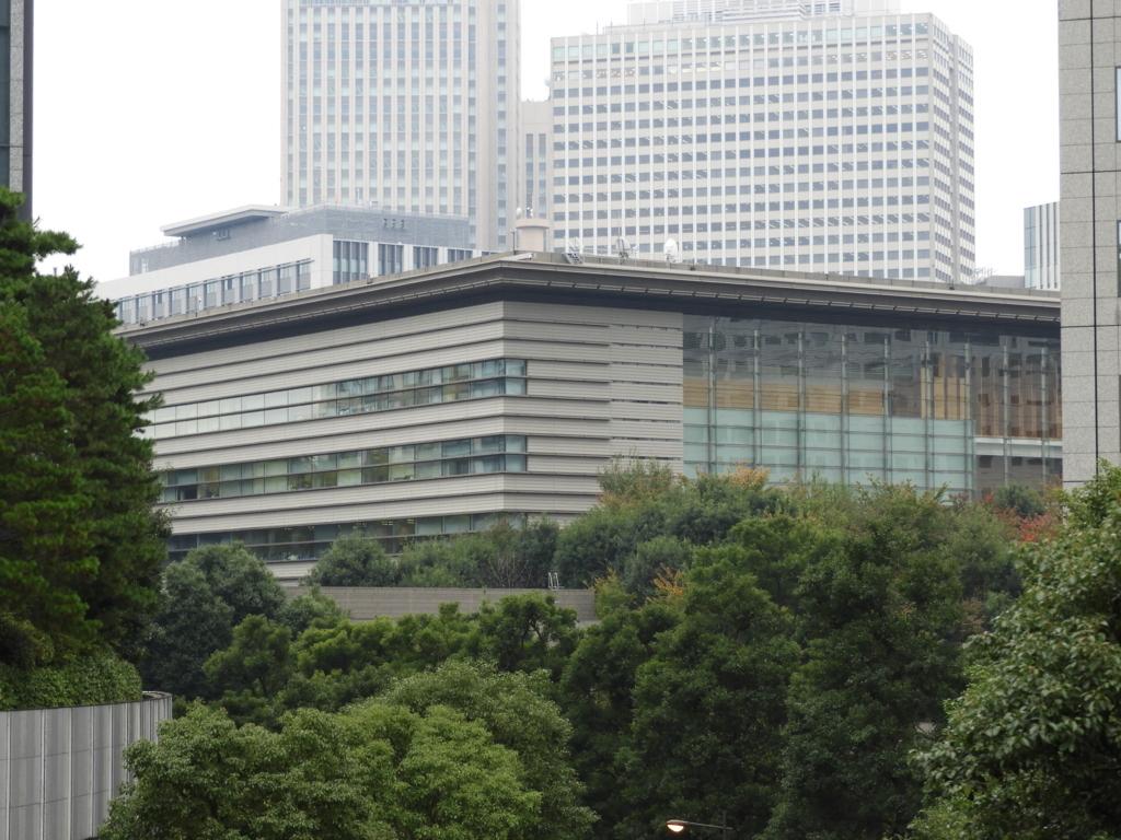 日枝神社の2基目のエレベーターから見える首相官邸