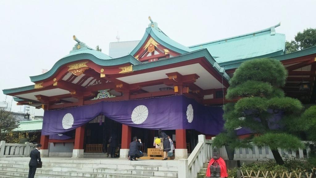 昭和33年に再建された日枝神社の社殿