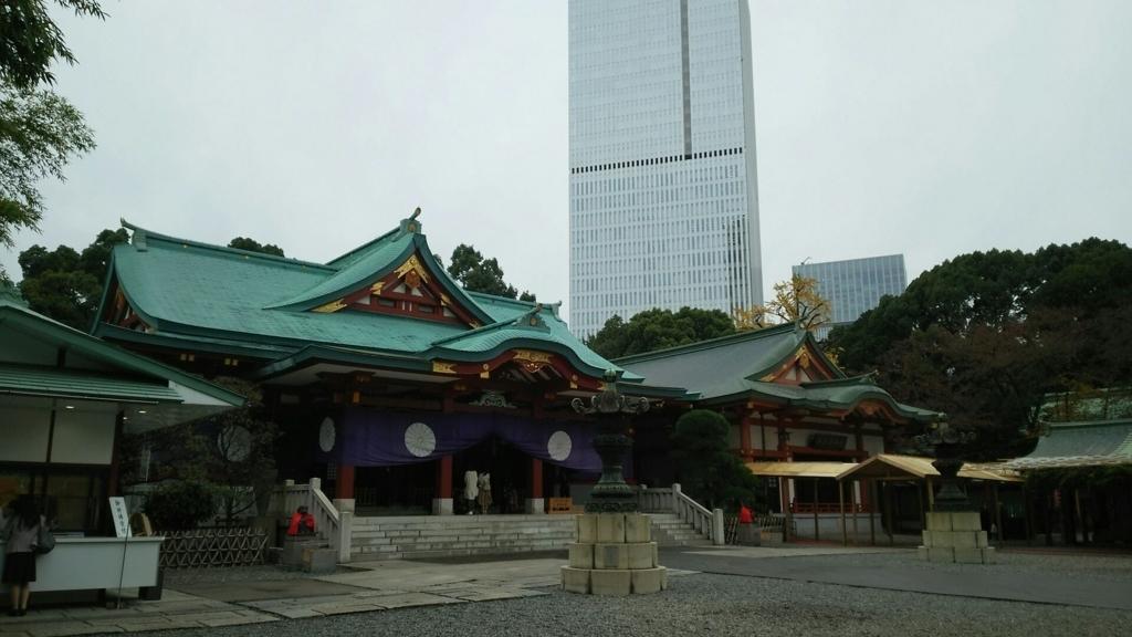 日枝神社の境内からの眺め