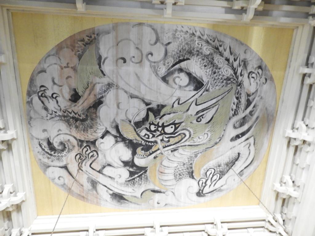 円覚寺の仏殿の天井に描かれた「白龍の図