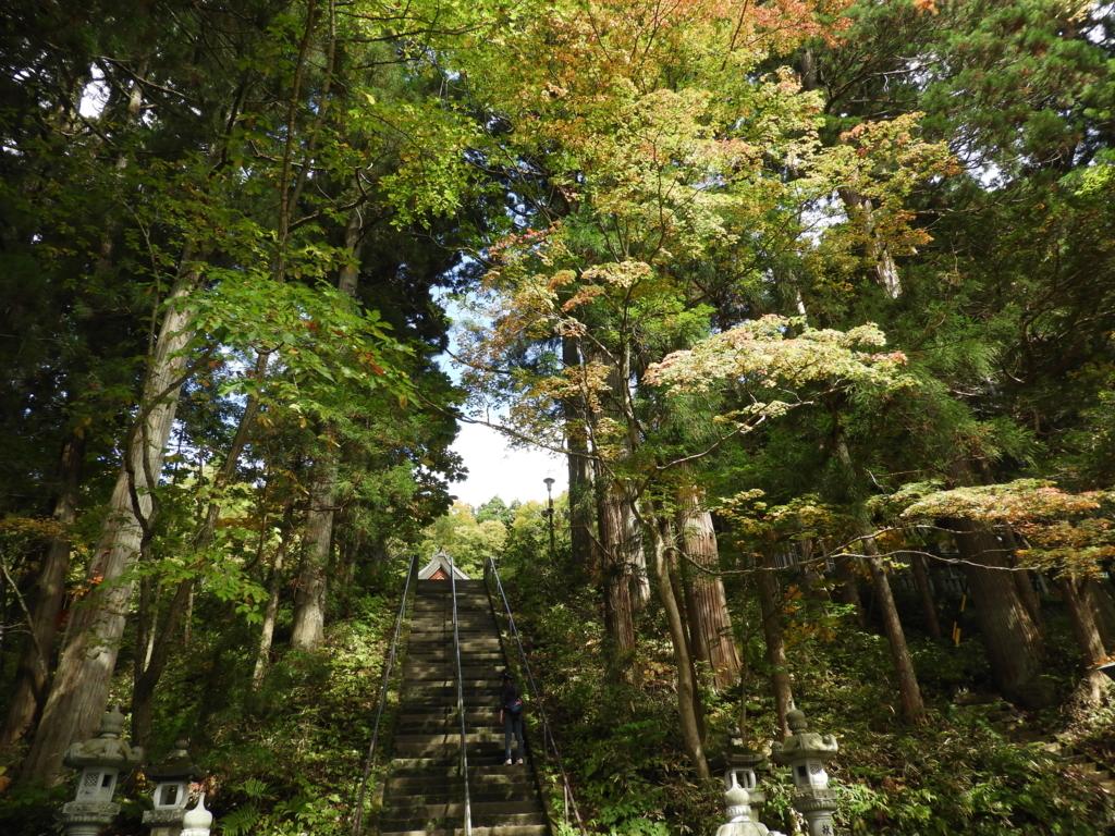 戸隠神社中社の拝殿への石段