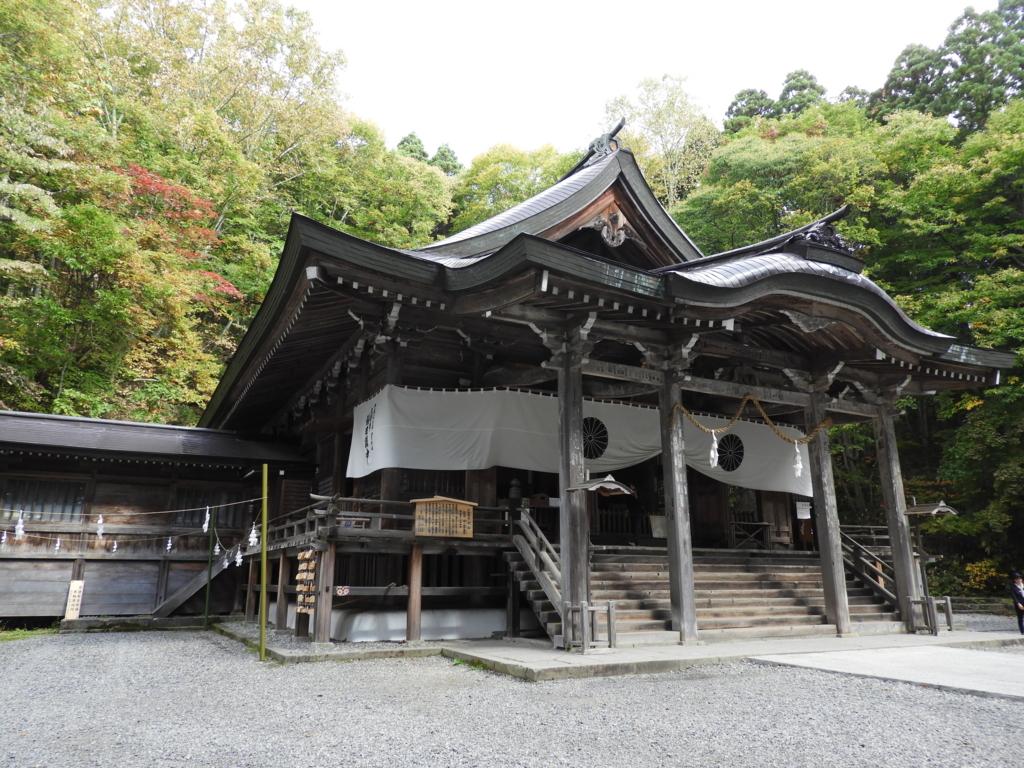 戸隠神社中社の拝殿
