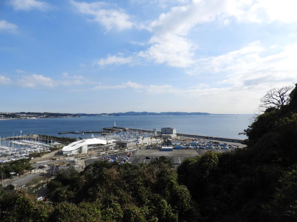 江島神社辺津宮の展望台
