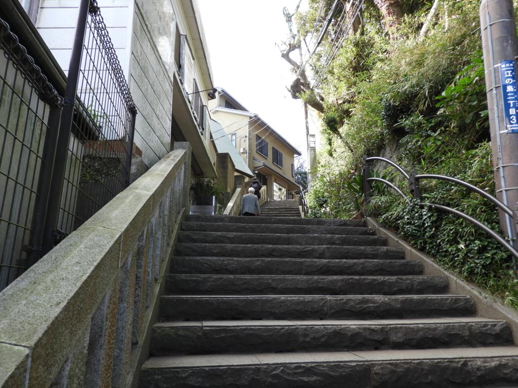 江の島展望灯台へ上がる階段