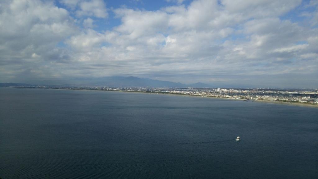 江の島展望灯台から望む箱根方面