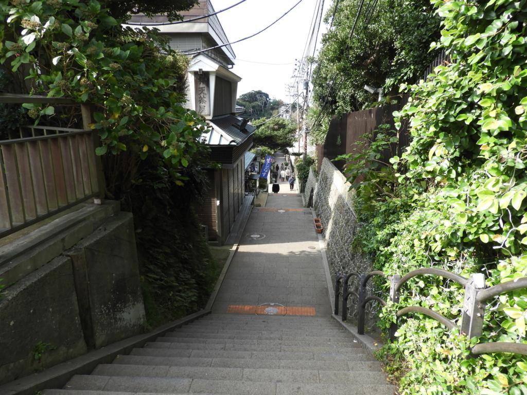 奥津宮への下り階段