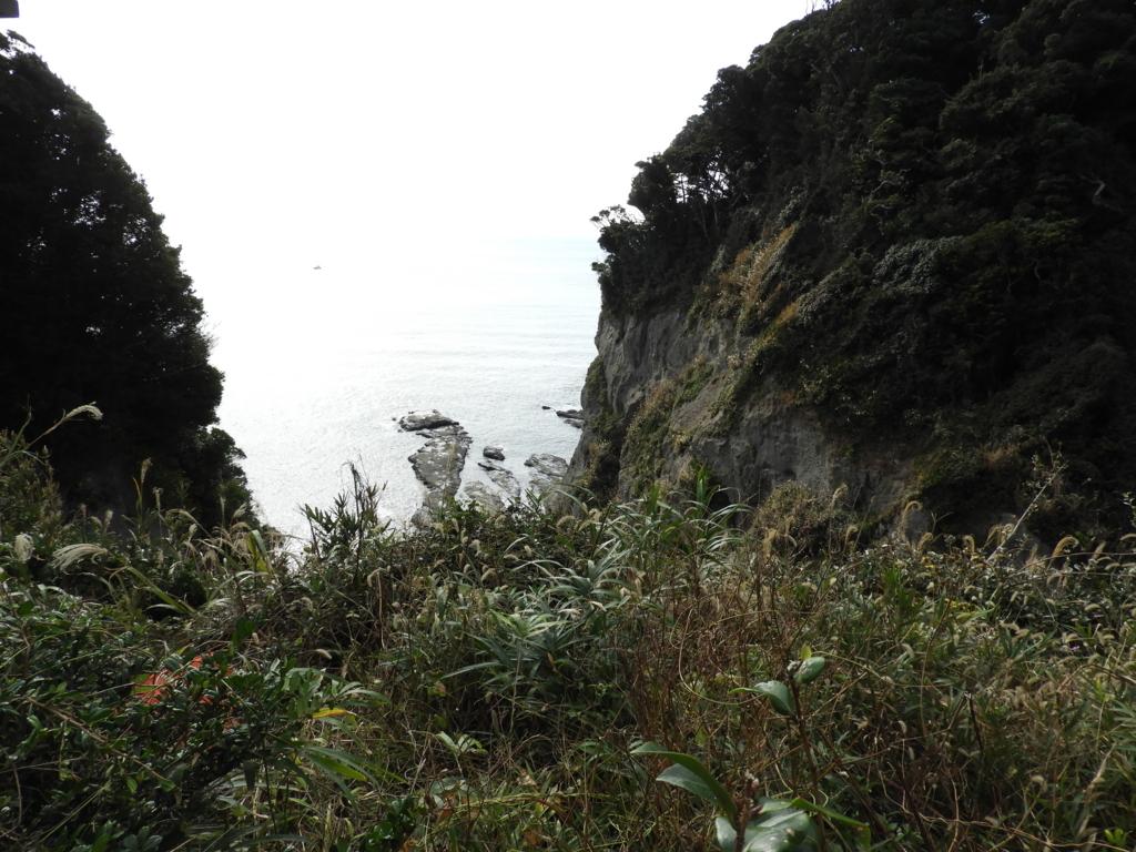 「山二つ」の眺め