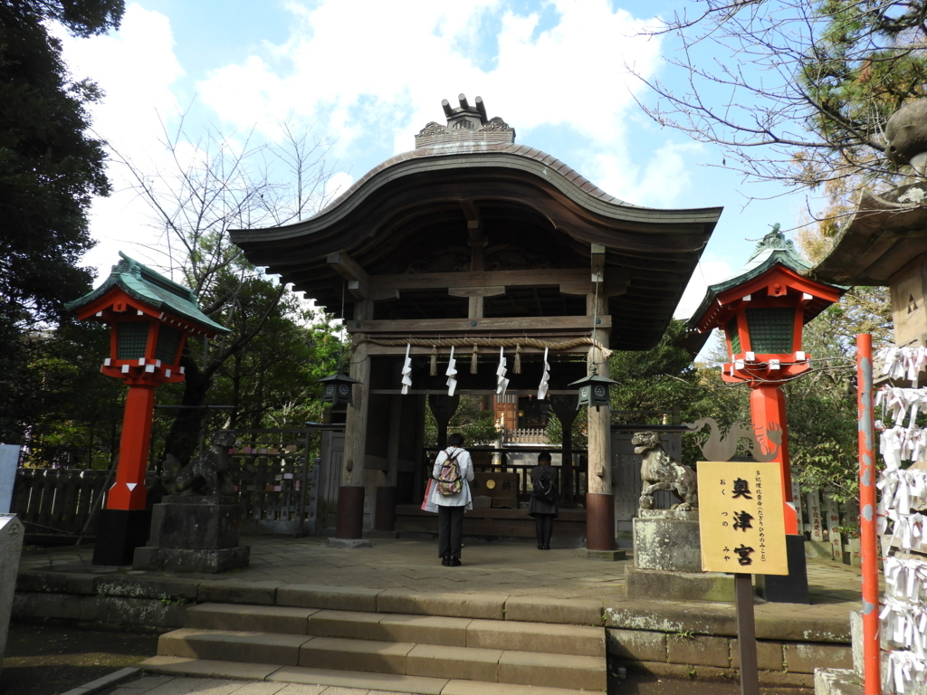 江島神社奥津宮の拝殿