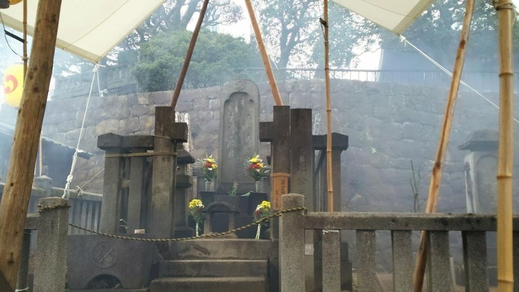 泉岳寺にある浅野内匠頭の墓