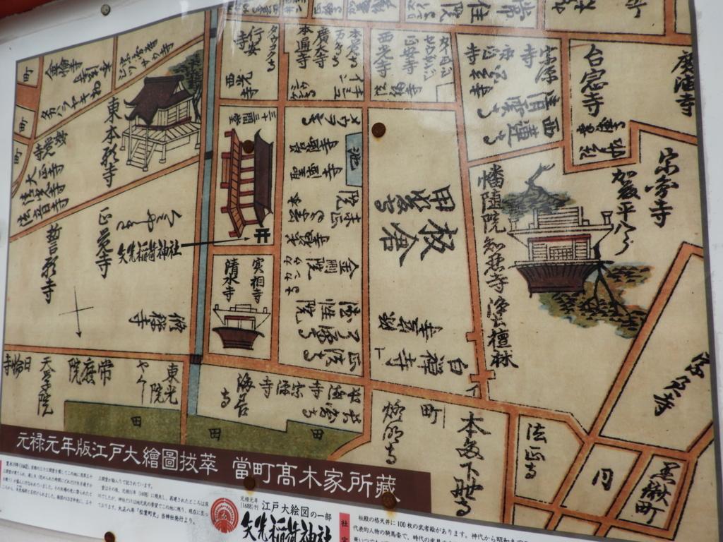 浅草三十三間堂を描いた古地図