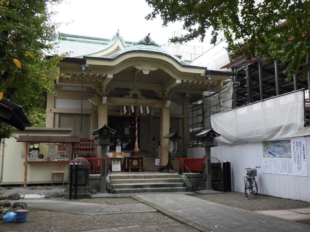 矢先稲荷神社の拝殿