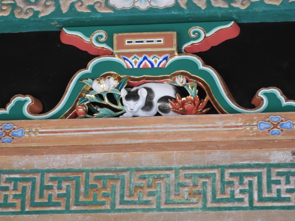 東照宮に眠り猫