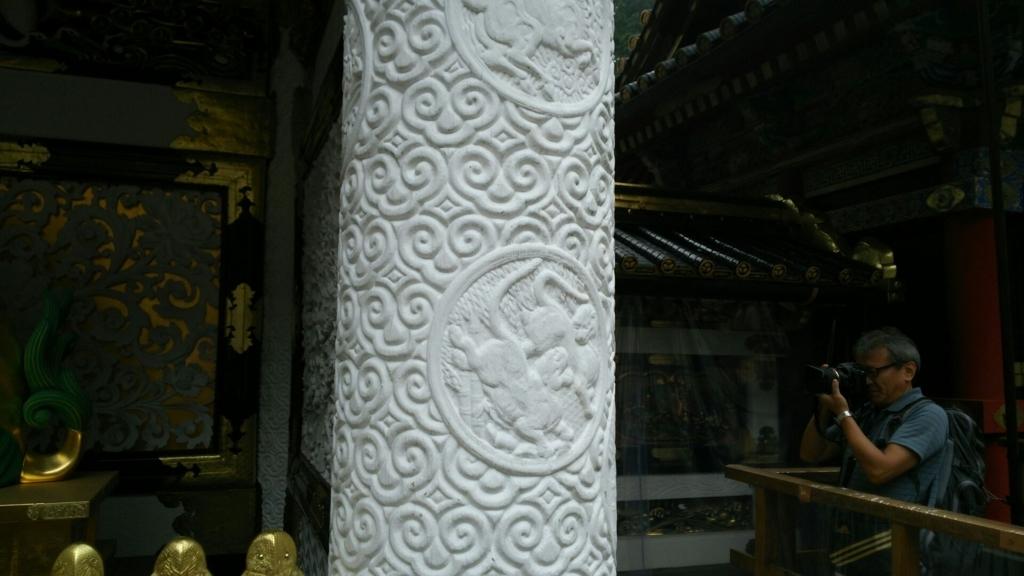 陽明門の柱のグリ紋