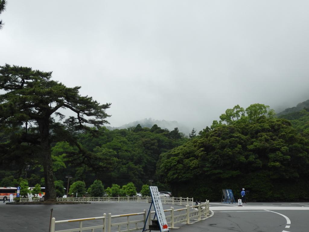 伊勢神宮内宮の周囲の山々