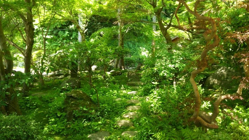お堂周辺の緑