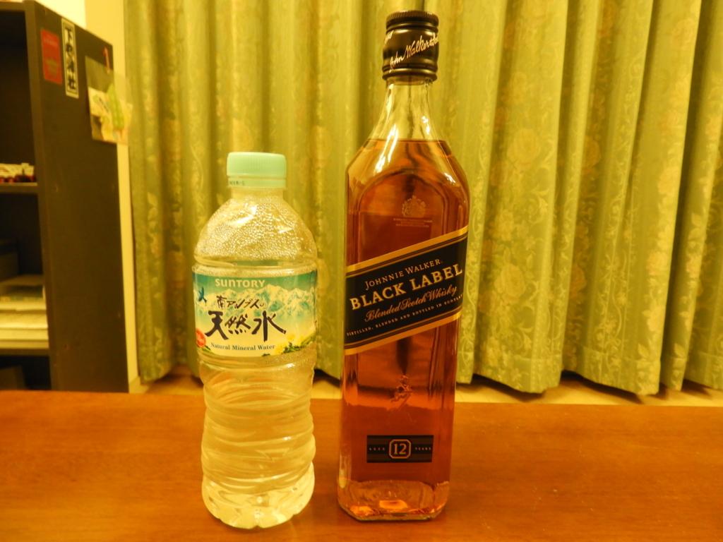 ジョニ黒と南アルプスの天然水
