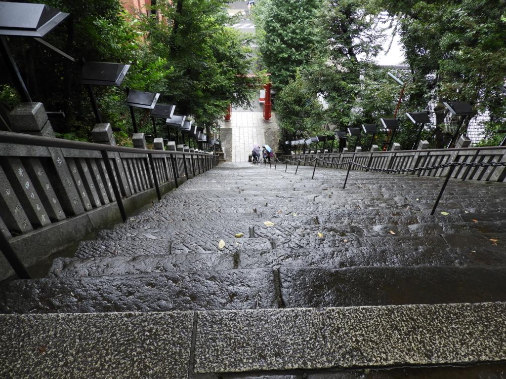 上から見下ろしてみた愛宕神社の出世の石段