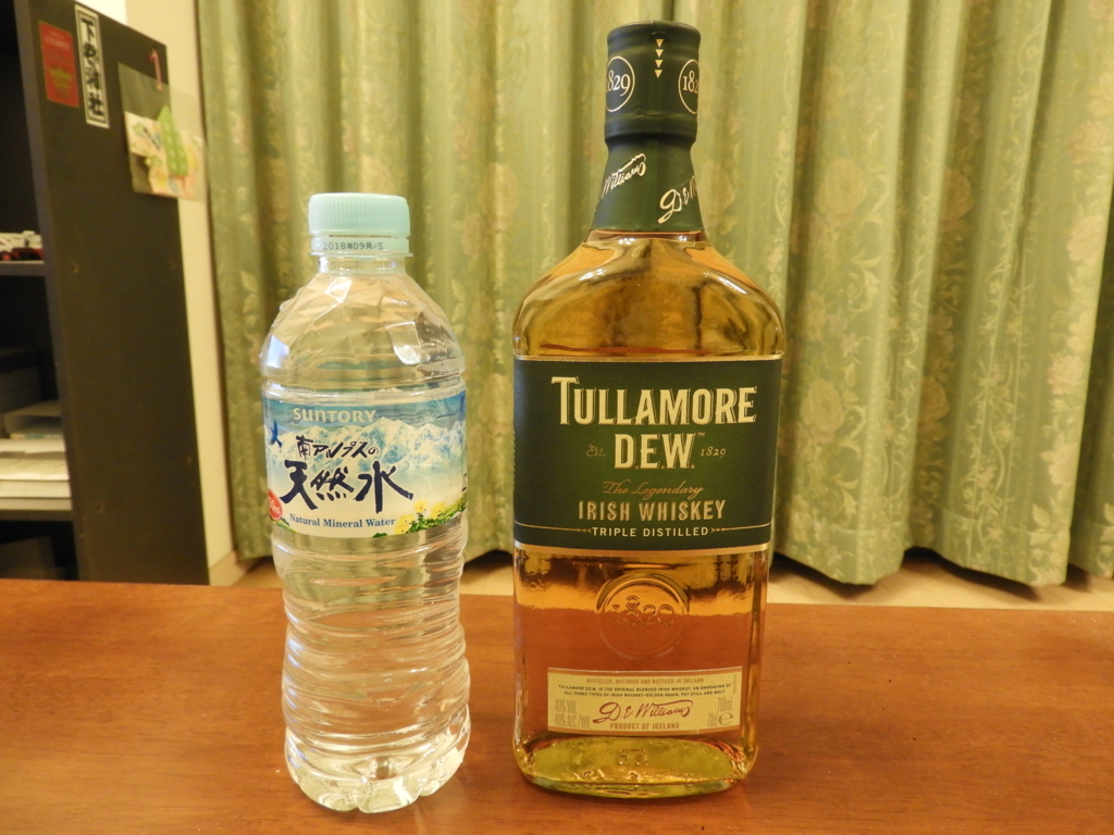 タラモアデューと南アルプスの天然水