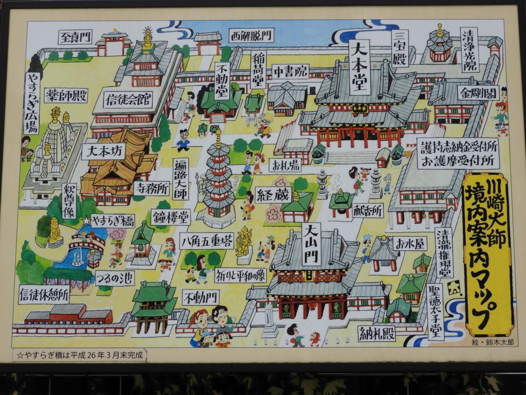 川崎大師の境内案内図