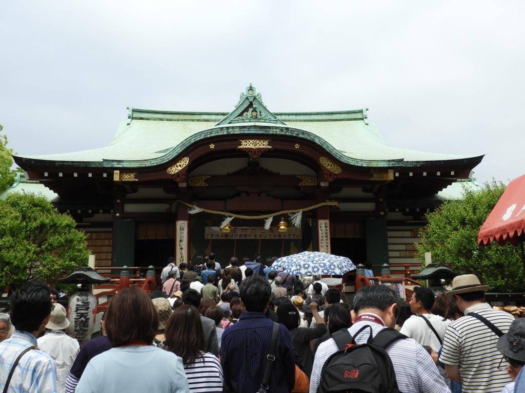 亀戸天神社の拝殿