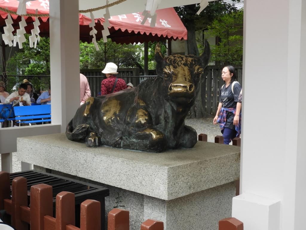 亀戸天神社の神牛