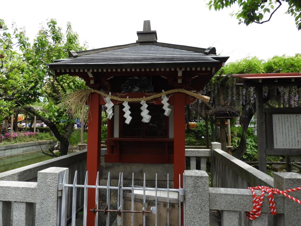 亀戸天神社の境内社である弁天社