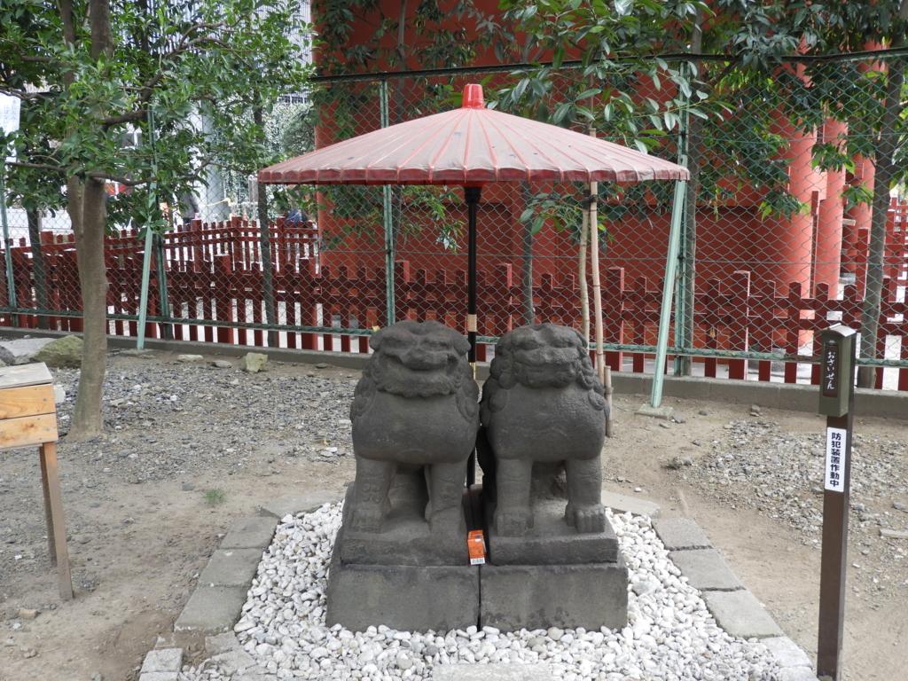 浅草神社の夫婦狛犬