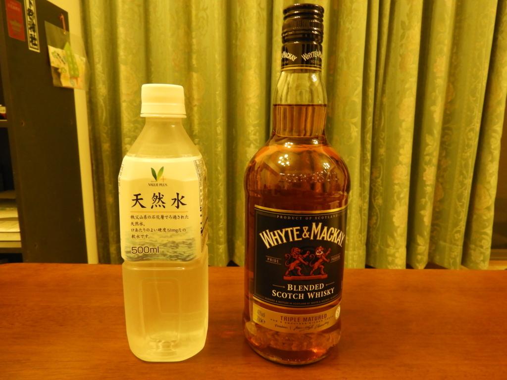 ホワイト&マッカイと秩父山系の天然水
