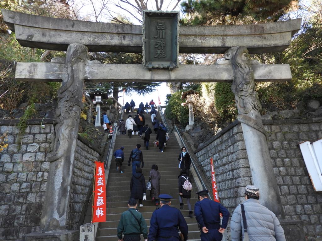 東京三鳥居の一つである品川神社の一の鳥居