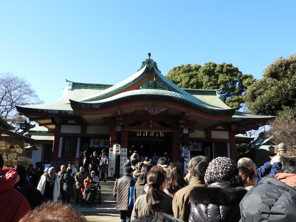 昭和39年に建替えられた品川神社の鉄筋コンクリート造の社殿