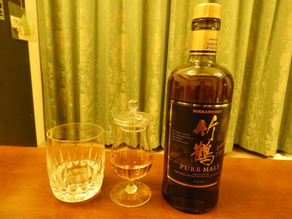 ニッカウィスキーの「竹鶴」のストレート