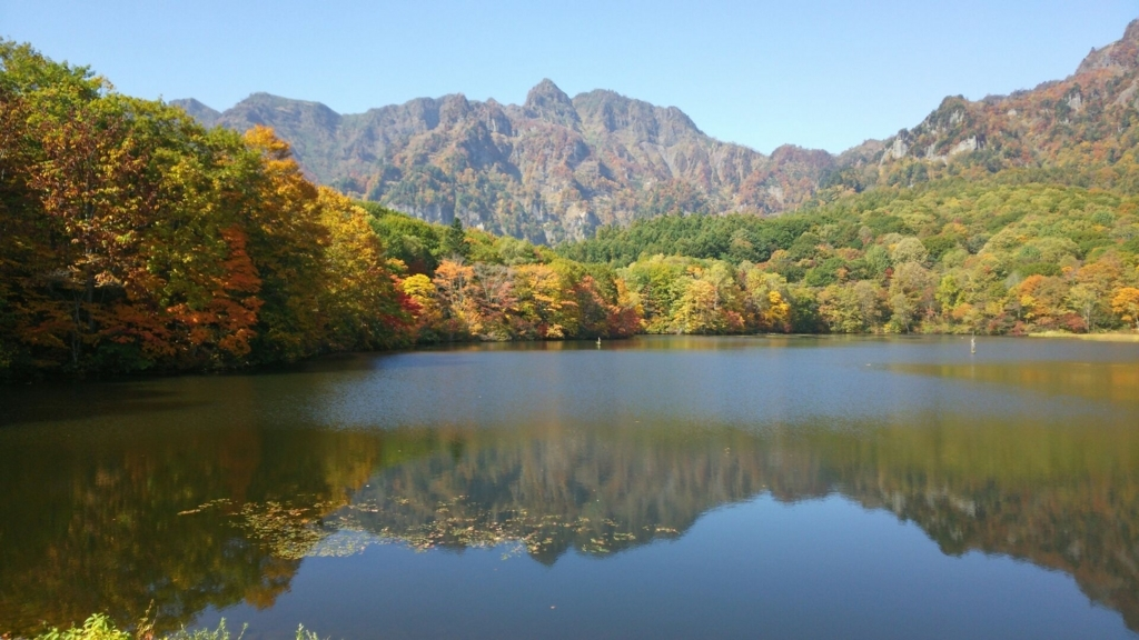 鏡池の絶景