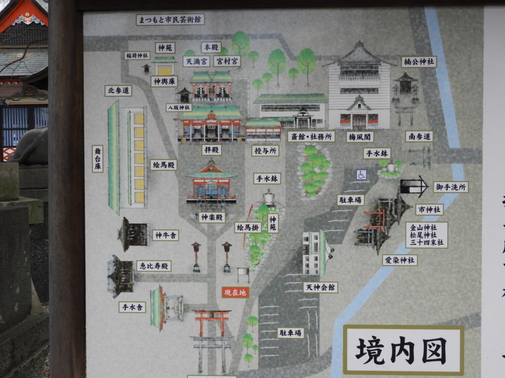 深志神社の境内図