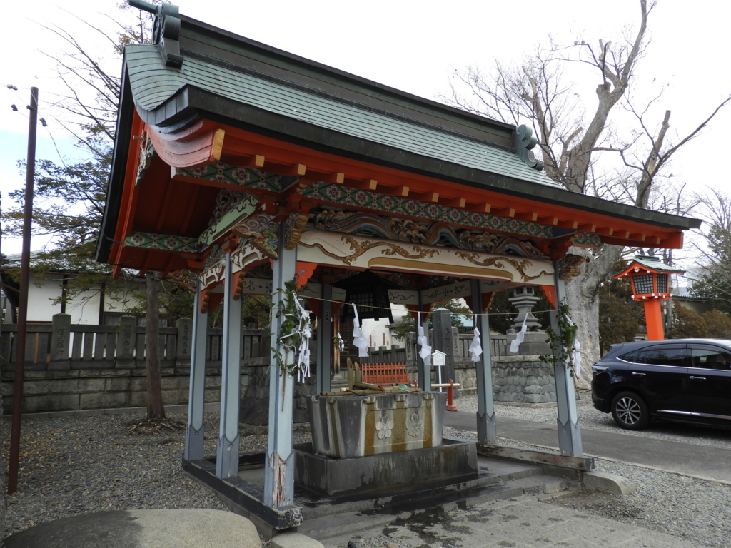 深志神社の手水舎
