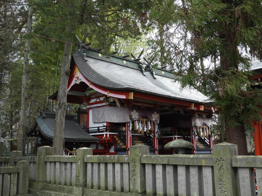 深志神社の2つの本殿